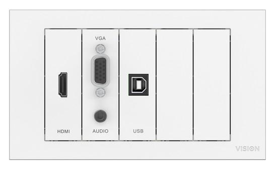 Techconnect 3 Zestaw modułów VGA + mj | HDMI | USB B