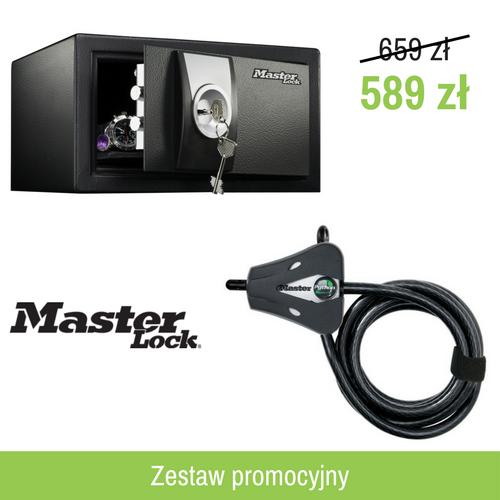Zestaw: Mały sejf na klucz X031ML + linka Python - kabel zabezpieczający, regulowany - 1,8m x 10mm