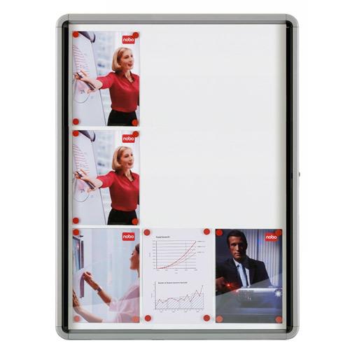 Gablota wewnętrzna - suchościeralna 9 x A4, drzwi wahadłowe