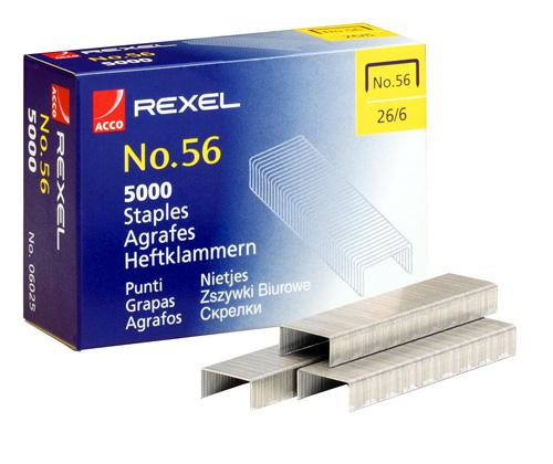 Zszywki Rexel nr 56 (6 mm) 26/6, 1000 szt.